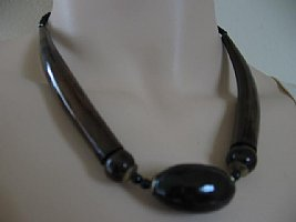 Horn Necklace: Oval Horn Bead