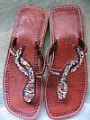 Beautifully Beaded Sandals:  Maasai Beaded Sandals